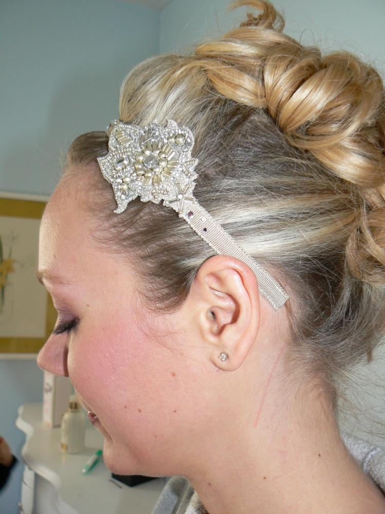 Christi's lovely bridal updo.